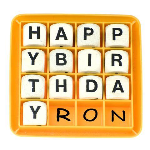 HAPPY BIRTHDAY DEAR RON…
