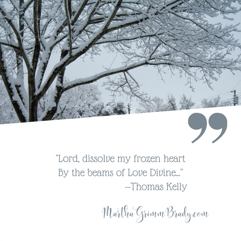 Lyrics of an old hymn titled, Lord, Dissolve my Frozen Heart, touches me very deeply. Allowing the warmth of His love to melt my hard, frozen heart? Lovely! #hymnsandsongs #frozenheart