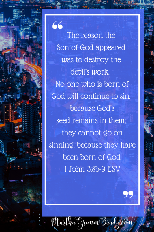 The contrast of righteousness and sin.This underlines one of the major themes in I John but shows it in the form of contrast rather than just describing it. #howdoiknowi'machristian? #IJohnquotes