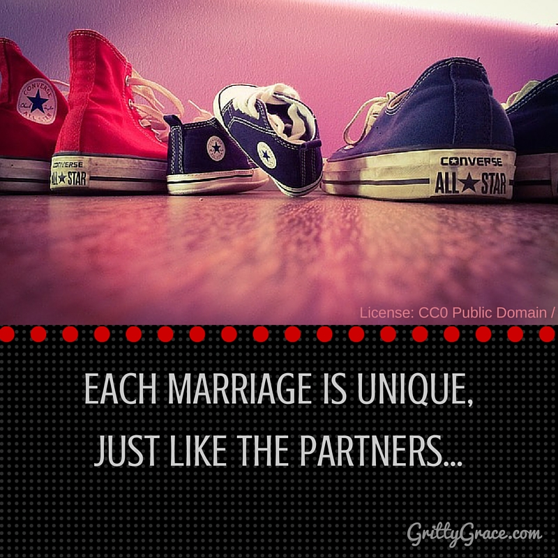 EACH MARRIAGE IS UNIQUE, JUST LIKE THE PARTNERS…