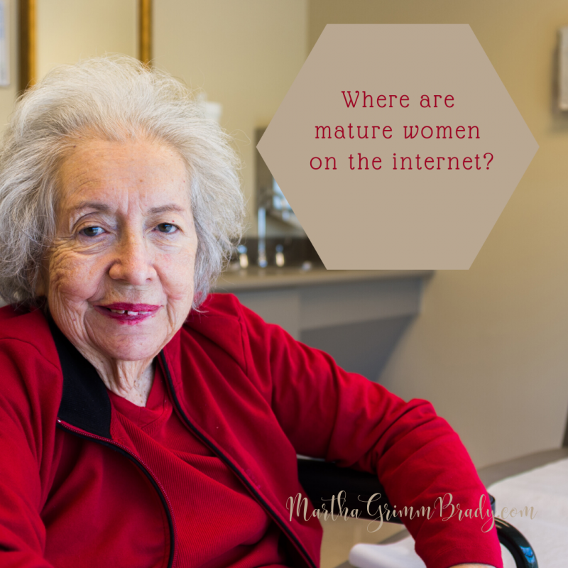 Where are the mature women on the internet? We are present. Not in the same numbers as younger women. But we are busy too! Caretaking still takes our time. #maturewomenareneeded #payattentiontomaturewomen