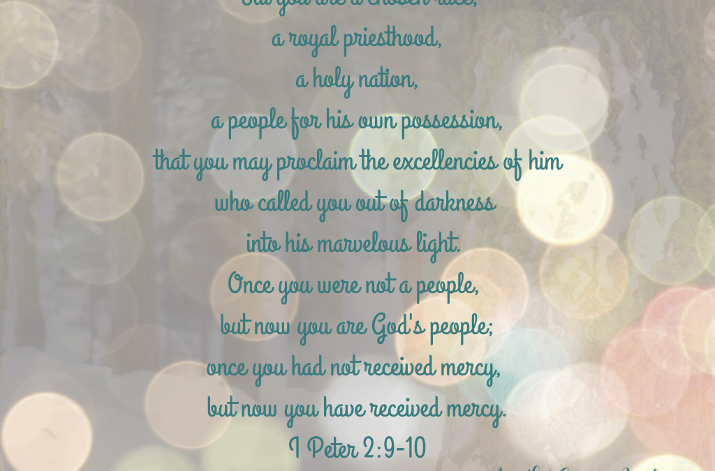 YOU ARE GOD'S SPECIAL POSSESSION, CHOSEN BY HIM!…