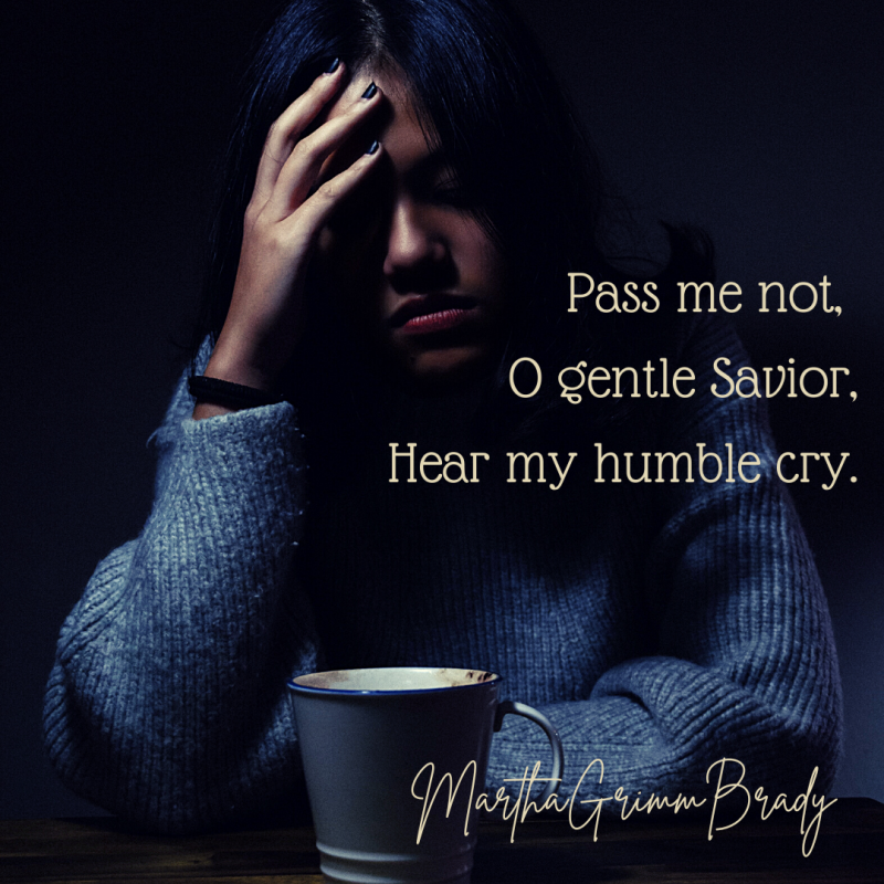 Pass me not, O gentle Savior, Hear my humble cry; While on others Thou art calling, Do not pass me by. #hymnsandsongs #Godiswithus