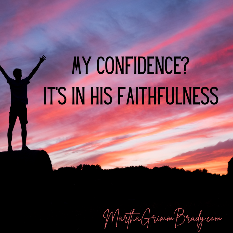 As you encourage others, where is your hope and confidence? In yourself & your wise words? Or in the One in who you place your trust...Jesus. #confidenceinJesus'faithfulness #Jesusisfaithful