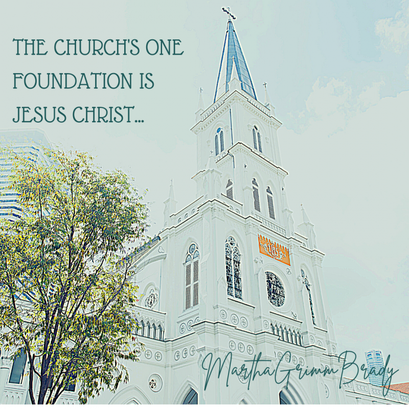 Our hope is that the foundation of the Church is Christ. That is our hope now and for the future! #hymnsandsongs #christthe churchsfoundation