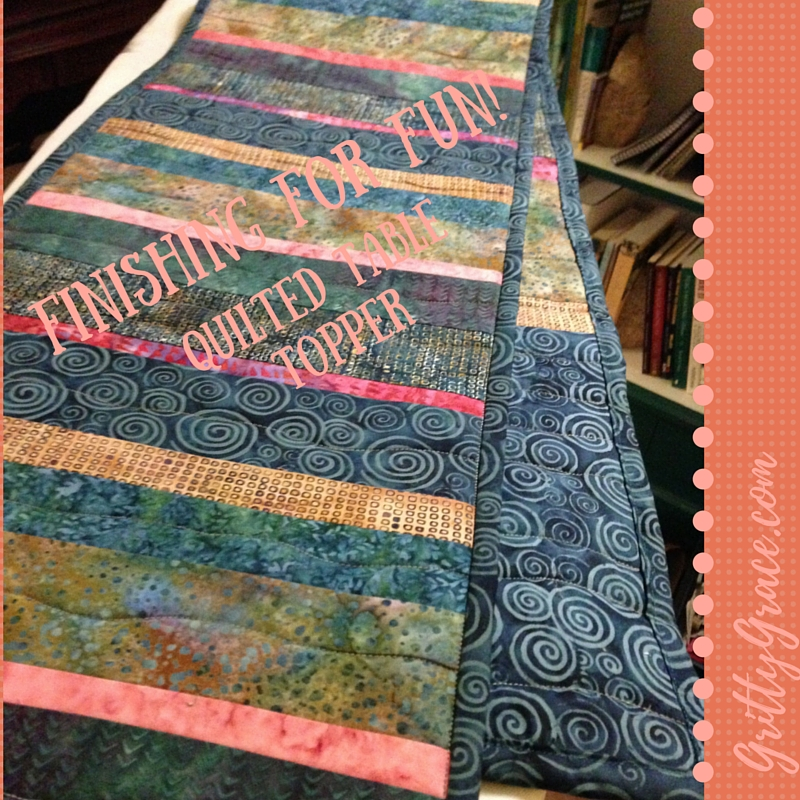 FINISHING FOR FUN!: A COLORFUL QUILTED TABLE TOPPER…