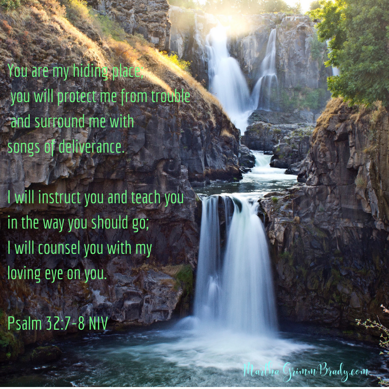 In times of trouble, we find a hiding place in GOD. He will protect and guide. Surrounding us with songs of deliverance? Beautiful, isn't it? #GODismyhidingplace #psalm32