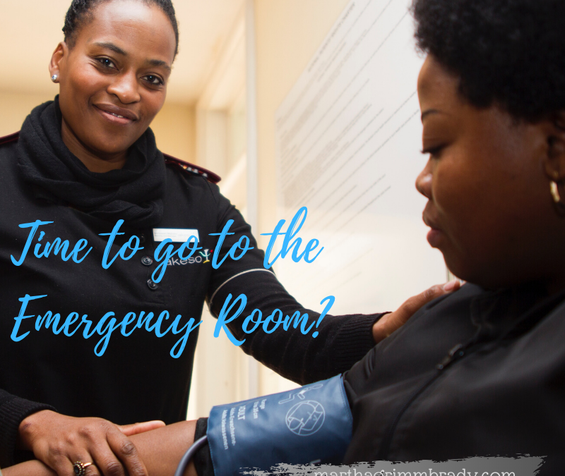 SHOULD I TAKE HIM TO THE EMERGENCY ROOM?…