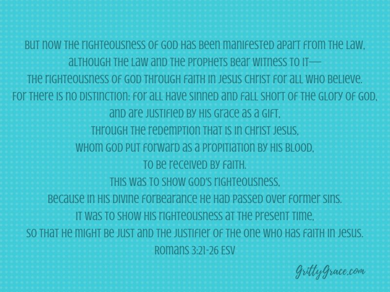 THE RIGHTEOUSNESS WE NOW HAVE IS FROM JESUS' BLOOD…