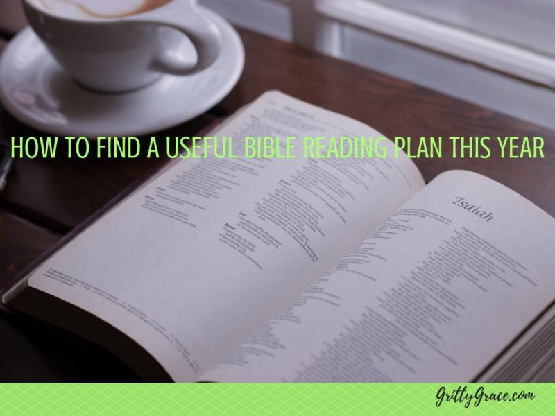 HOW TO FIND A USEFUL BIBLE READING PLAN THIS YEAR…