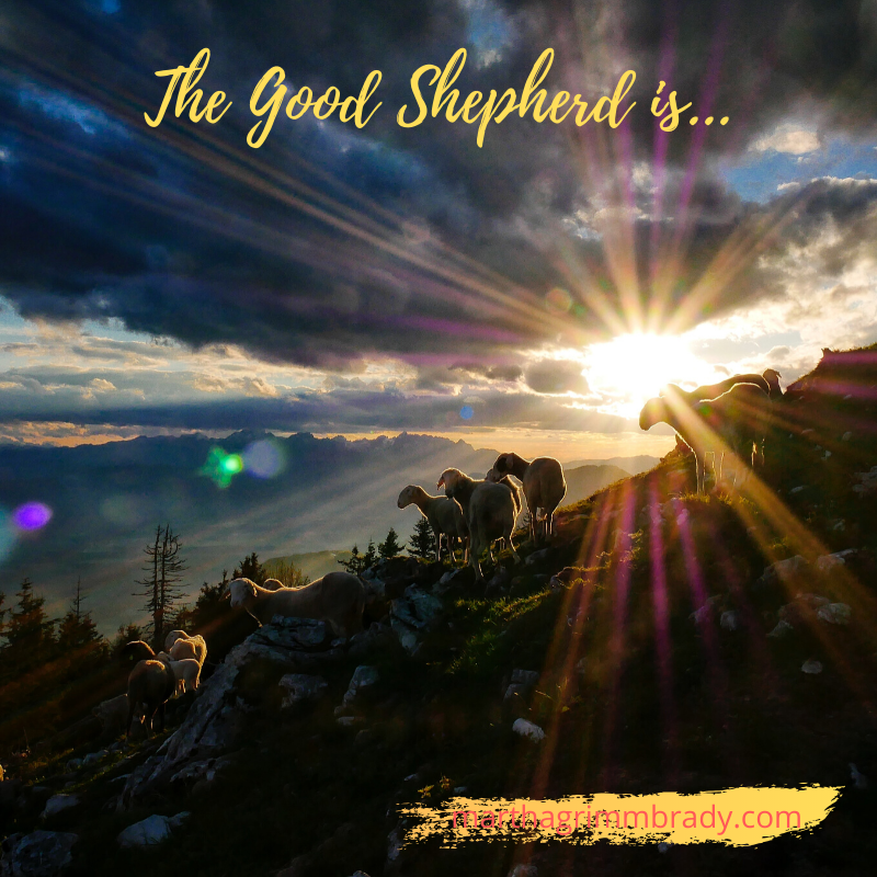 The good Shepherd gives HIs life for His sheep.