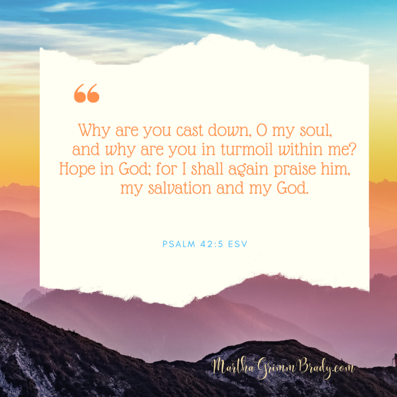 We learn from GOD's Word the facts of who GOD is and what His promises to us are. But the hard knocks of life teach us more about how to hope in GOD in real life. #hopeinGOD #joyinthejourney #marthagrimmbrady