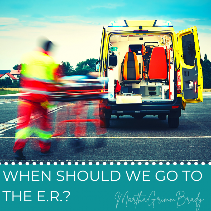 5 conditions that should send you to the ER. 5 items you should take with you when you go. Comforting words too. #hopequotes #triptoER