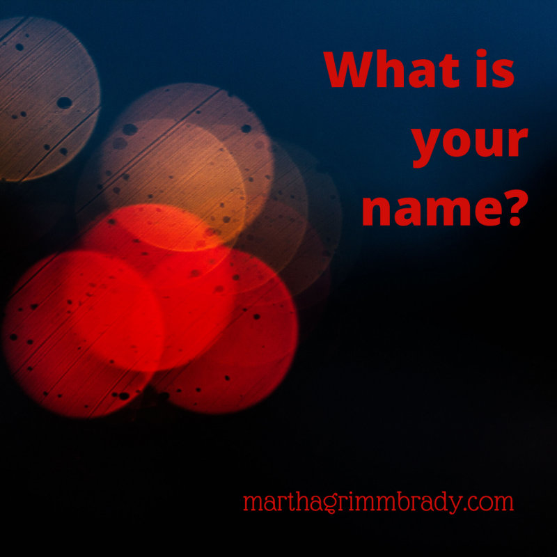 It is not the name that quickly comes to mind when you are having a hard time. But GOD has given you another name or two once you become His child. #frominvisibletoembraced #newname #marthagrimmbrady