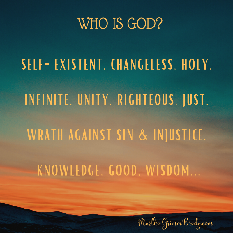 This is the landing page for the 2019-2020 WHO IS GOD? series. it is an updated version of a 2012 series I did for the GrittyGrace.com blog. #WhoisGOD? #God'sattributes