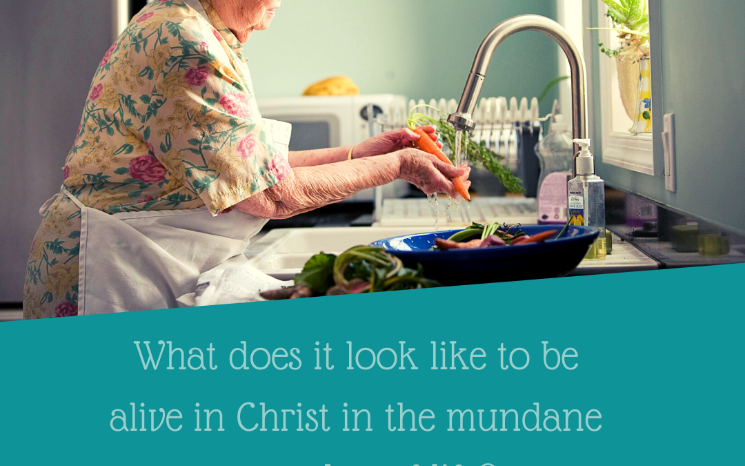 ALIVE IN CHRIST: IN THE MUNDANE EVERYDAY…