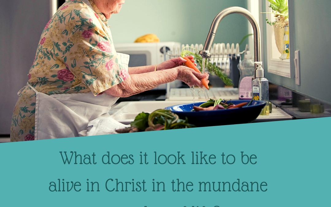 ALIVE IN CHRIST: IN THE MUNDANE EVERYDAY…