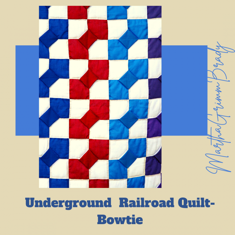 This is the final post in our Underground Railroad Quilt series. I hoe you enjoyed it. Today we cover the Log Cabin Block & the Bowtie Block. As a bonus, I talked a bit about Harriet Tubman (1820-1913) a major player in the Underground Railroad. #blackhistorymonth #Undergroundrailroad #undergroundrailroadquilts.