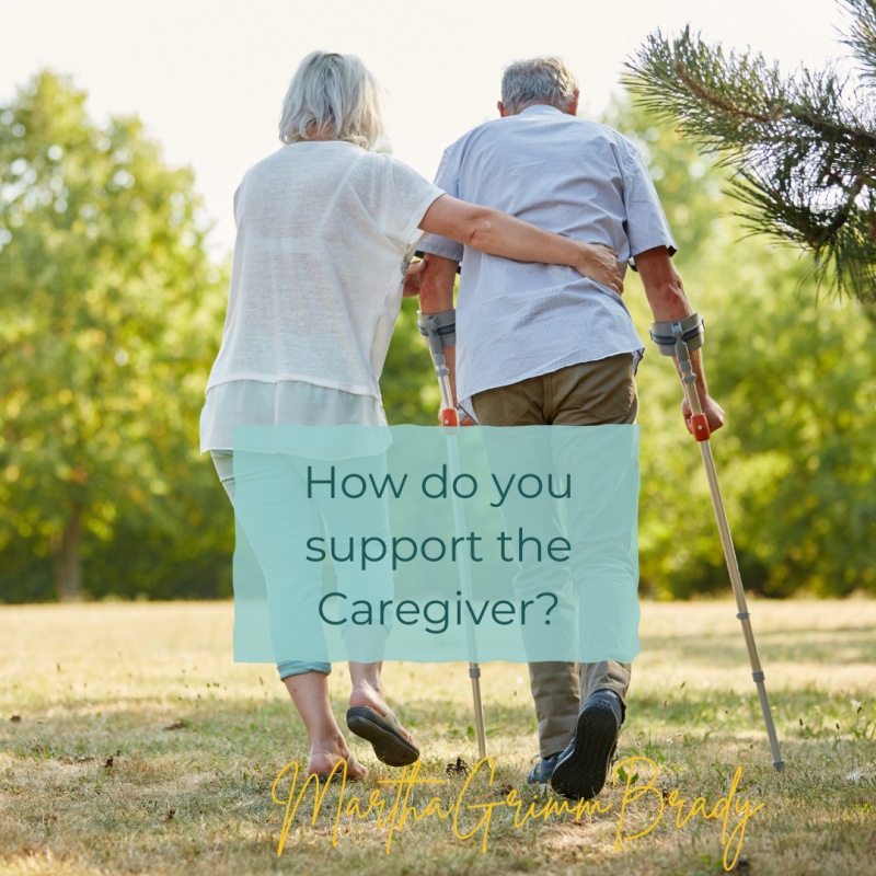 Here are 9 ways you can support your caregiving friend and her spouse. Caregiving is braided together wit grief and all its stages. #supportcaregivers #caregiving