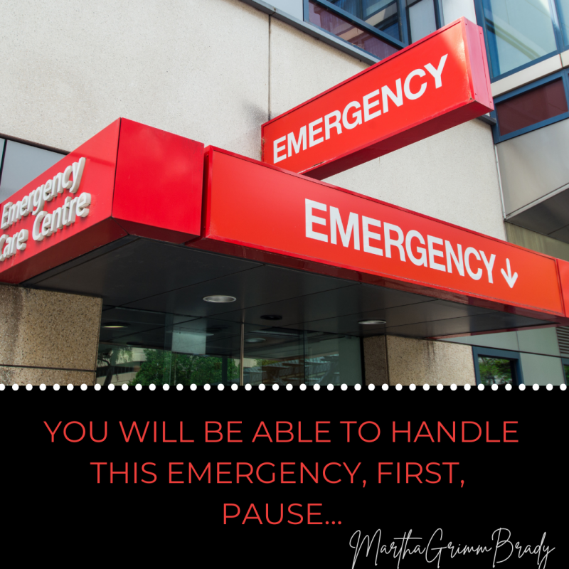 This is part II of an emergency assessment for a caregiver. It is designed to help you understand that you can handle your side of an emergency with help. Just pause & move forward. #emergency #stopandpause #caregiver