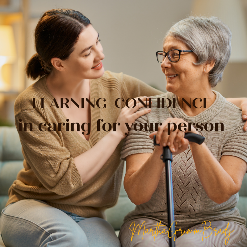 As you relate to medical personnel in the doctor's office or in the hospital, you can be confident as you share information about your loved one. #confident #confidentcaregivers