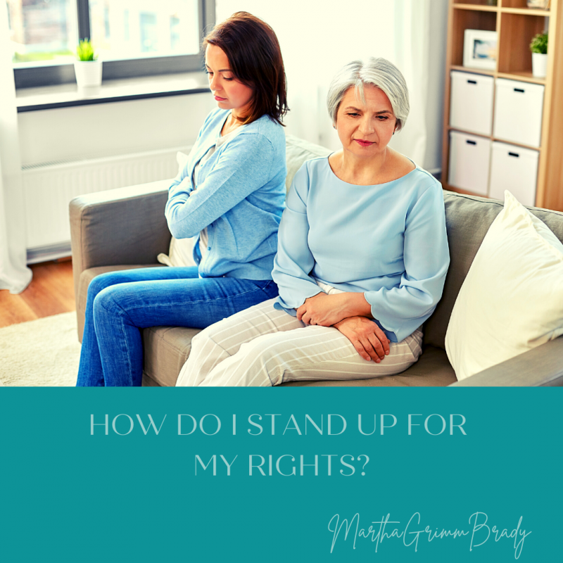 These are some ways you can stand up for your rights in a medical setting. You are not being selfish to stand for your rights or those of your loved one. #patientrights #caregiving