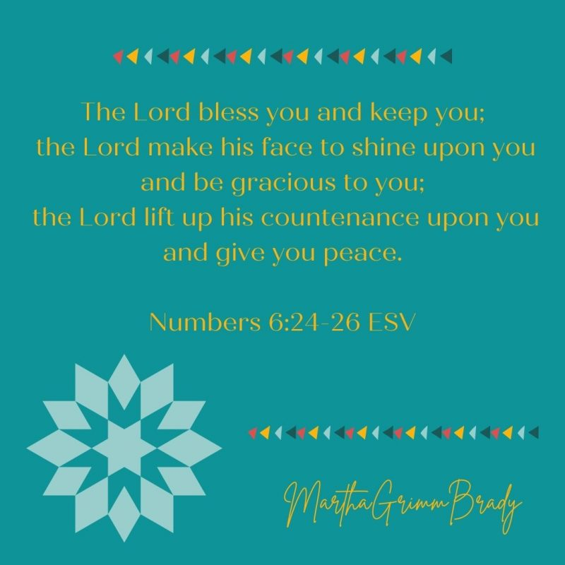 This blessing indicates that shalom (wholeness) is possible by grace. We can receive this blessing as we follow God in the ways He has taught us. #thebenediction #blessingofshalom #shalom