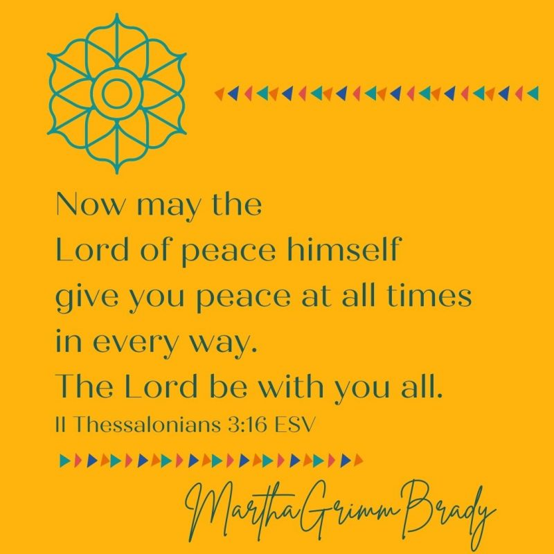 You are able to have peace at all times because the Lord of peace has given it to you & because He is with you. What a comfort! #peace #lordofpeacegivespeace #thelordiswithyou #thebenediction