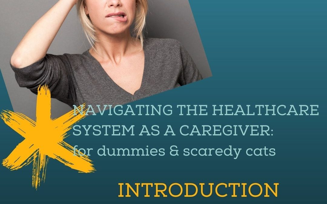 NAVIGATING THE HEALTHCARE SYSTEM AS A CAREGIVER, FOR DUMMIES & SCAREDY CATS: INTRO…